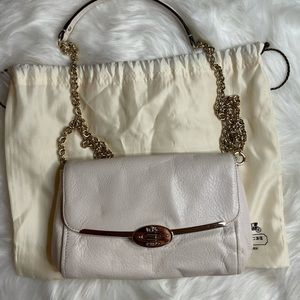 Coach Crossbody White smooth leather bag